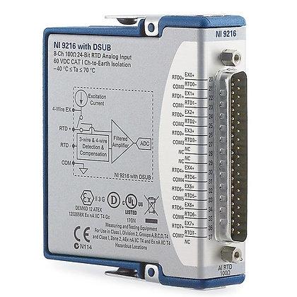 NI-9216, 8-Ch, 50S/s/ch, 24-Bit, PT100 RTD, Conformal-Coated