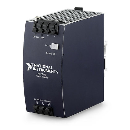 NI PS-16 Power Supply, 24 VDC, 10 A, 100-120/200-240 VAC Input
