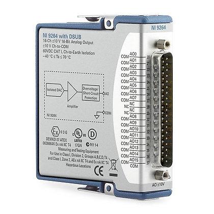 NI-9264 C Series Voltage Output Module, 16-Ch, ±10 V, 100 kS/s