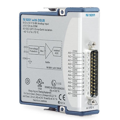 NI 9201 DSUB, +/-10 V, 12-Bit, 500 kS/s, 8-Ch AI Module