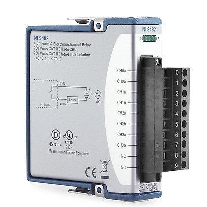 NI-9482 C Series Relay Output Module, 4-Ch SPST, 30/60 VDC, 250 VAC