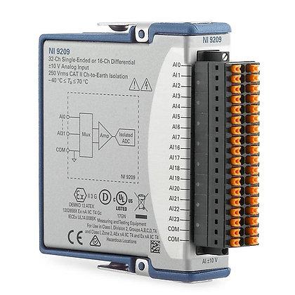 NI 9209 Spring, 16-Ch voltage, +/-10V, 24-bit, 500 S/s AI module