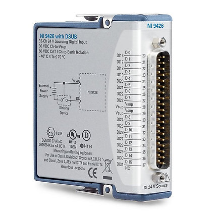NI 9426 w/DSub Sourcing Digital Input Module, Conformal Coat