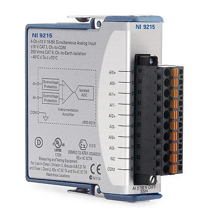 NI 9215 Spring Term, +/-10 V, 16-Bit, 100 kS/s/ch, 4-Ch AI Module