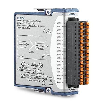 NI 9264 Spring, 16-Ch voltage,+/-10V, 16-bit, 25kS/s/ch AO module