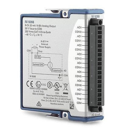 NI 9266 Screw Terminal, 8 ch,0 to 20mA,16-bit, 24 kS/s/ch AO C Series module