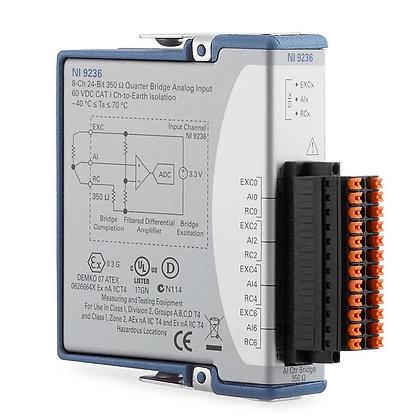 NI 9236 350ohm, 8-Ch, 1/4 Bridge Input Module, Conformal Coated