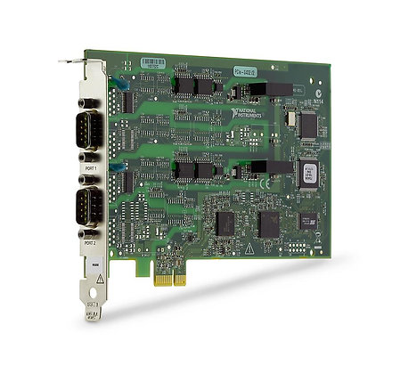 NI PCIe-8432/2, 2 Port, Isolated RS232 Serial Interface