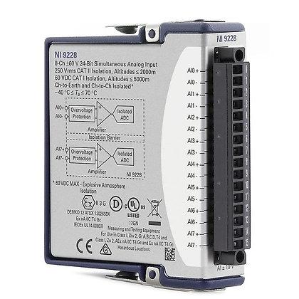NI 9228 Conformal Coated, 8-Ch +/-60 V, 24-Bit