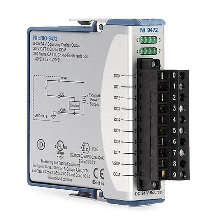 NI 9472 8-Ch 24 V, 100 us, Sourcing DO Module
