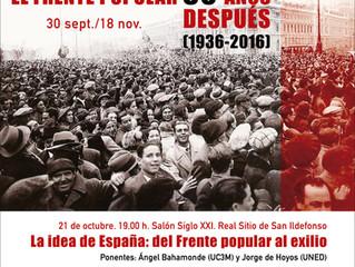 La Idea de España: del Frente Popular al Exilio