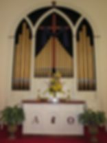 Altar at Culpeper Presbyterian Church