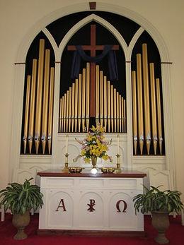 Altar at Culpeper Presbyterian Church