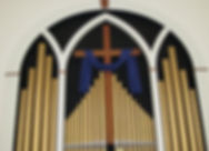 Organ pipes at Culpeper Presbyterian Church