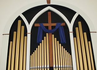 Organ pipes at Culpeper Presbyterian Church
