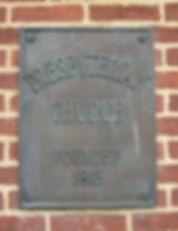 Culpeper Presbyterian Church Plaque