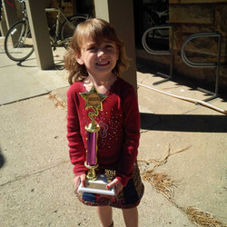 Best Decorated Wagon winner in the kiddi