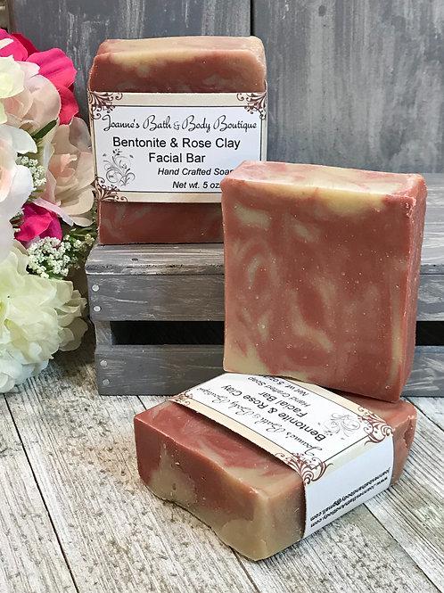 Bentonite & Rose Clay Facial Bar