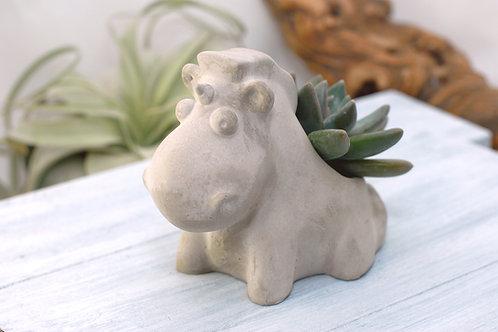 Fluffy Unicorn Concrete Succulent Planter