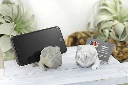 Concrete Pug Business Card Holder