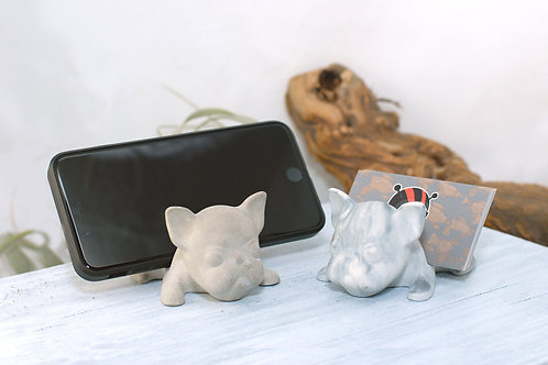 Concrete Frenchie Business Card Holder
