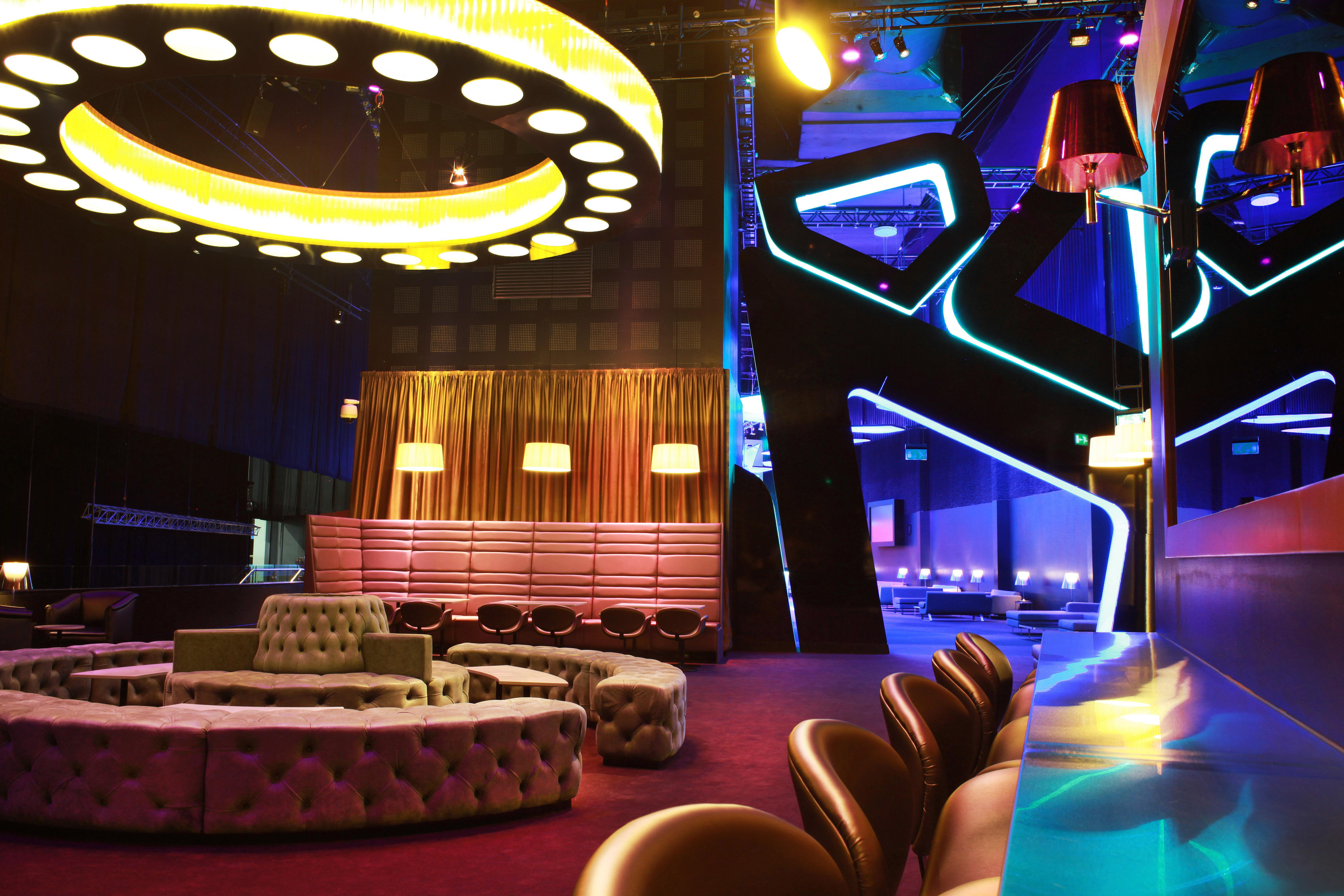 Sky bar, backstage at the O2.