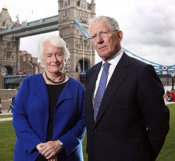 Nick Hewer and Margaret Mountford.