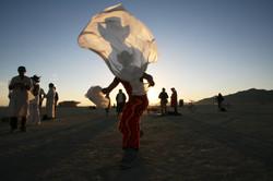 Burning Man at dawn.