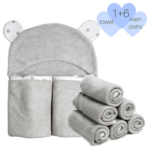 Luxury Bamboo Towels with 6 Washcloth