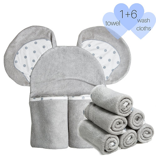 Luxury Towels with 6 Washcloths