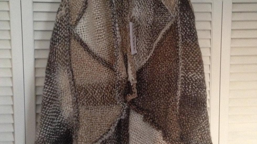 Triangle loom woven boho vest