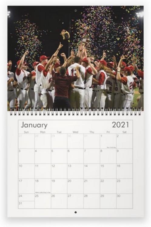 Mustangs 12 month Wall Calendar