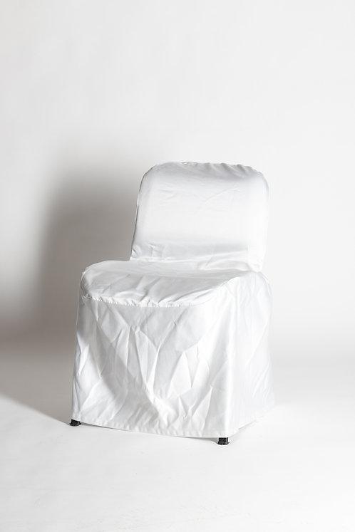 Oblazinjen stol z belim pregrinjalom