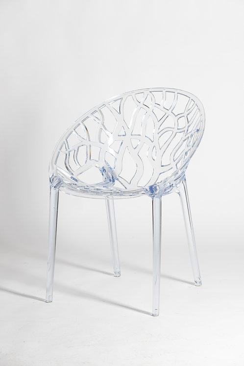 Prozoren pleksi eleganten stol Snežinka