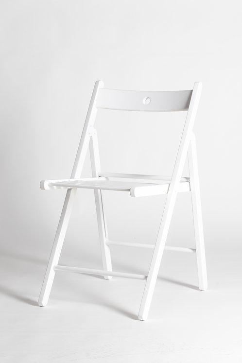 Stol Terje, lesen zložljiv stol - bel
