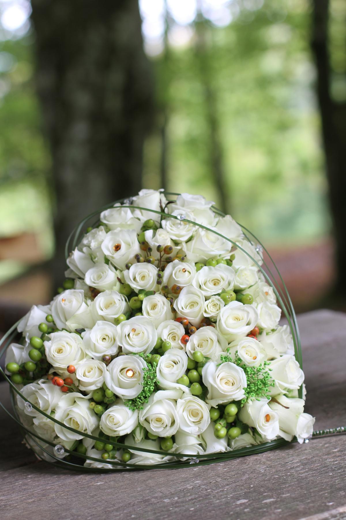 Poročni šopek-vrtnice