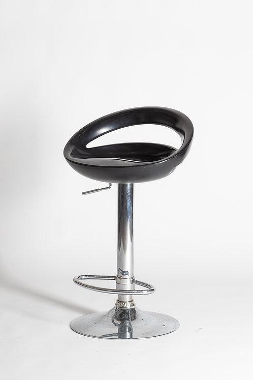Visok oblzinjen barski stol (okrogel)