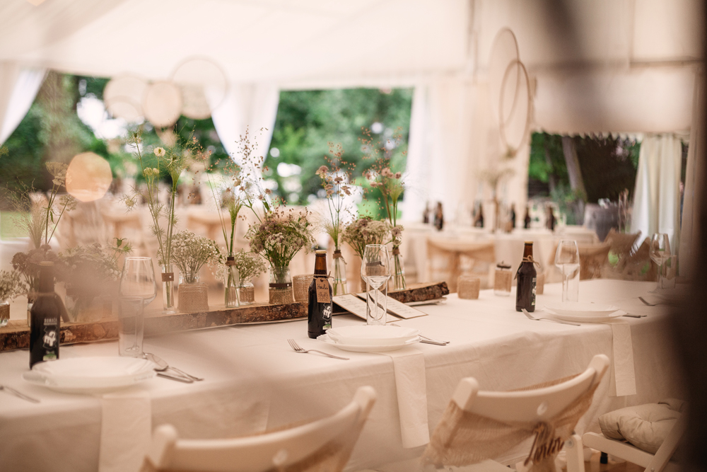 Poročna dekoracija - vintage stil