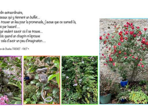 Un the en mai, dans un petit jardin extraordinaire, après avoir traversé la galerie... ?