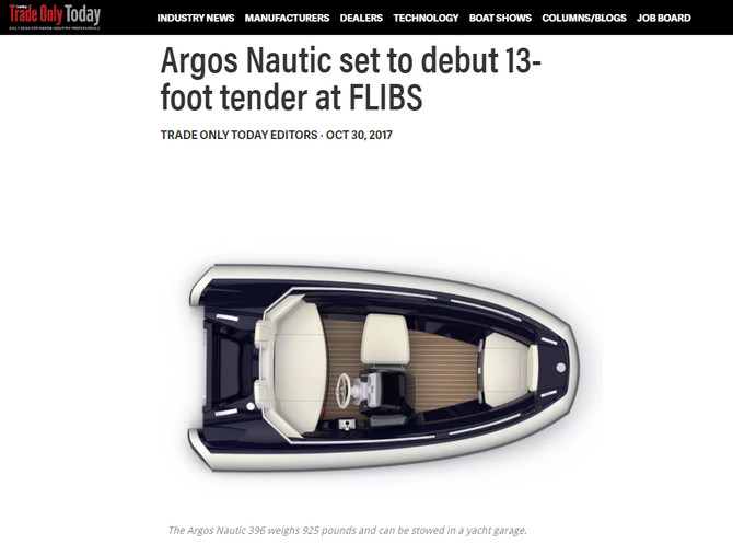 Trade Only Today  Featuring Argos Nautic