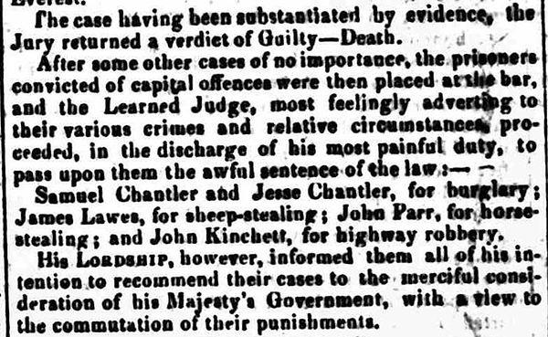 Statesman London Friday 20 December 1822