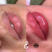 Lip blush before and after
