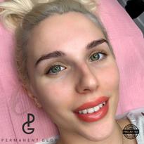 Beautiful Lip Blush Client after her procedure