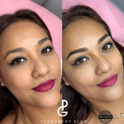 Before and After Ombre Powder Glow