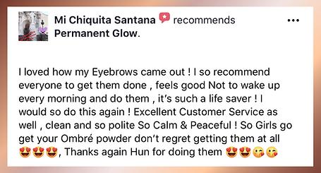 Pemanent Glow Facebook Recommendation