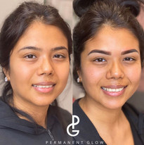 Look at those brows before and after