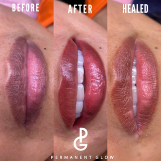 Healed Lip blush done by Permanent Glow
