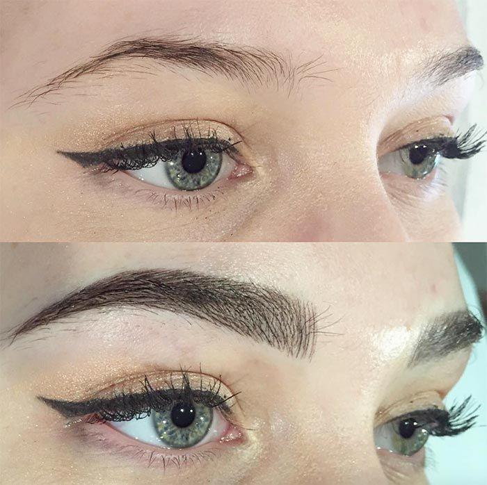 Amazing brow transformation
