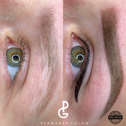 Before and After eyeline and brows