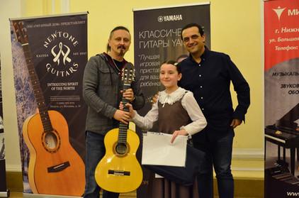 Вручение Гран-при фестиваля, гитары Дмит